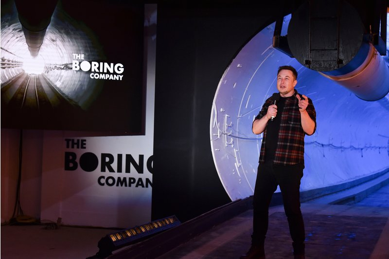 Elon Musk Display an Underground Tunnel