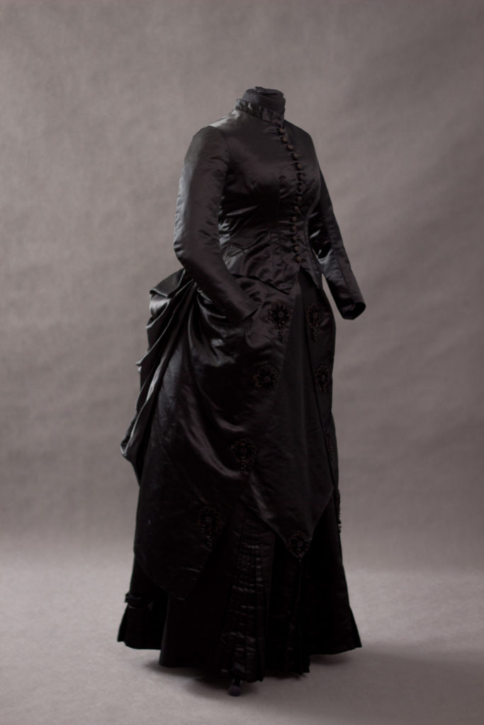 Black Silk Mourning Dress – 1875- 1880